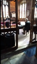 Flute and Piano playing hymns