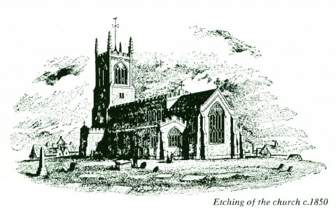 St Mary's Church etching c1850