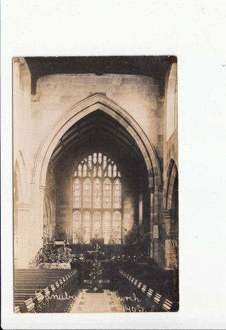 St Mary's interior in 1905. Probably Harvest Festival