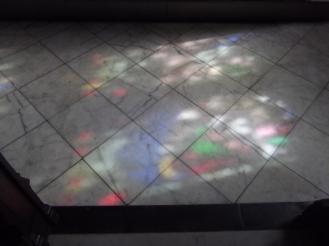 Colours on floor